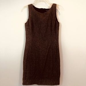 Ann Taylor Sleeveless Brown Dress SZ 6 Petite